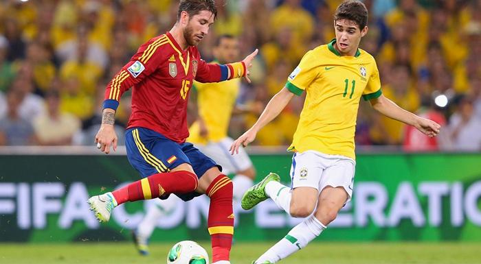 A Nike já venceu a Adidas ano passado na Copa das Confederações  Brasil 3 x  0 Espanha 3080b8b299fa8