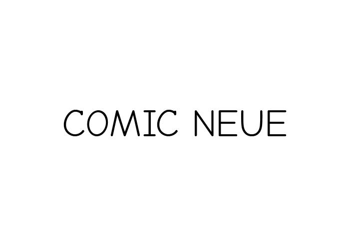 Comic Neue – Sim! Uma nova Comic Sans.
