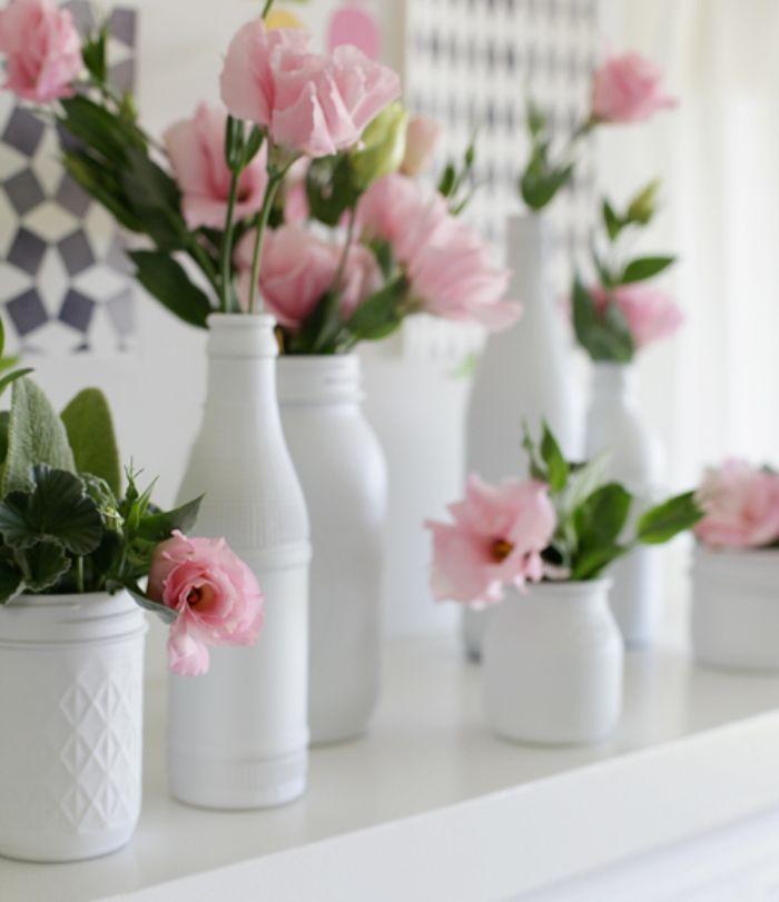 Interiores -> Decoração De Vidros De Conserva Com Eva
