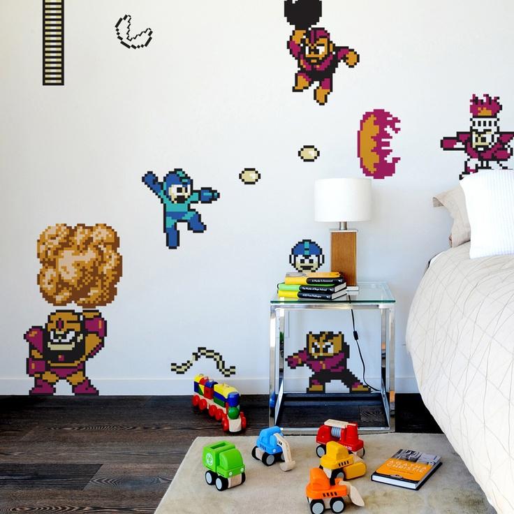 Quarto com inspiração em Mega Man
