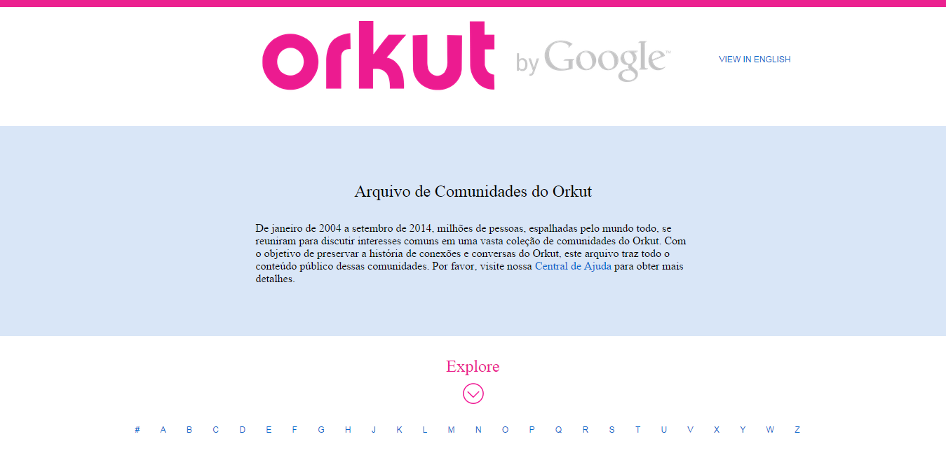Orkut Community archive