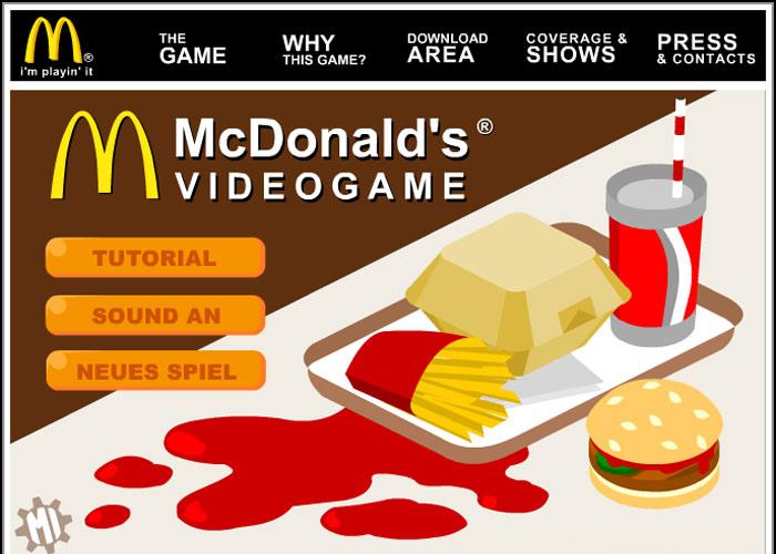 Mc Donalds Advergame