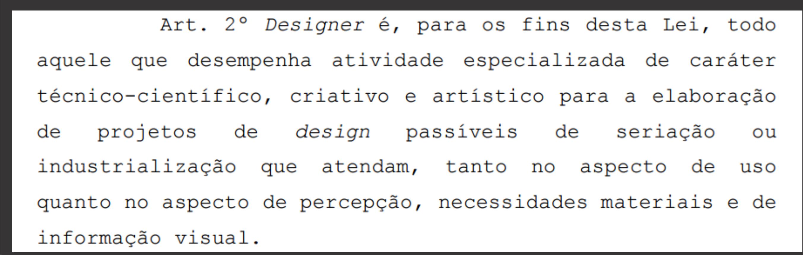 Definição Designer