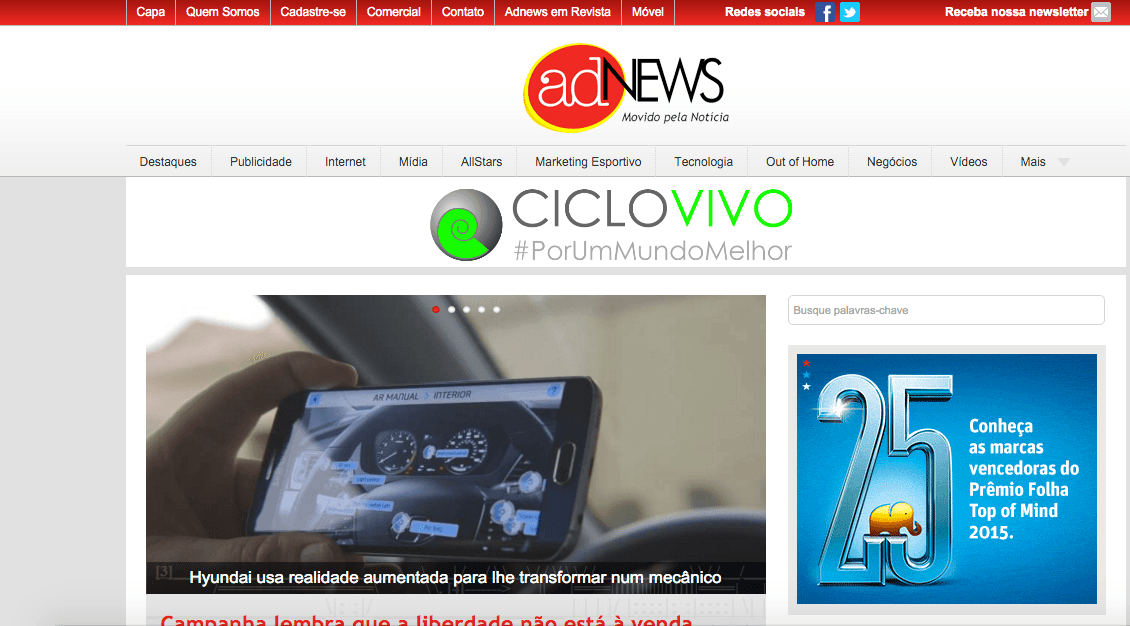 Home do site Adnews