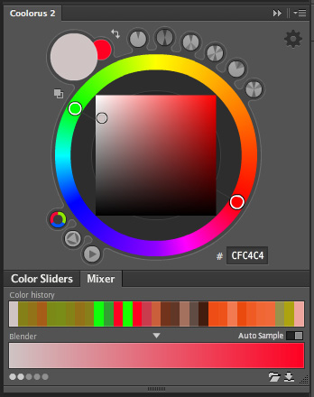 caixa coolorus color wheel digital painting