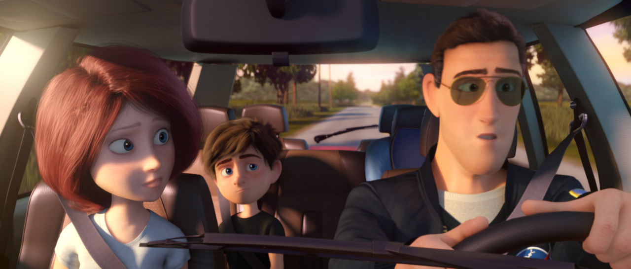 (L-R) Samantha Goldwing, Mike Goldwing and Scott Goldwing in the animated film, CAPTURE THE FLAG, by Paramount Pictures