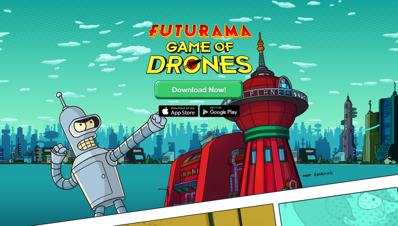 Futurama Game of Drones Official Website